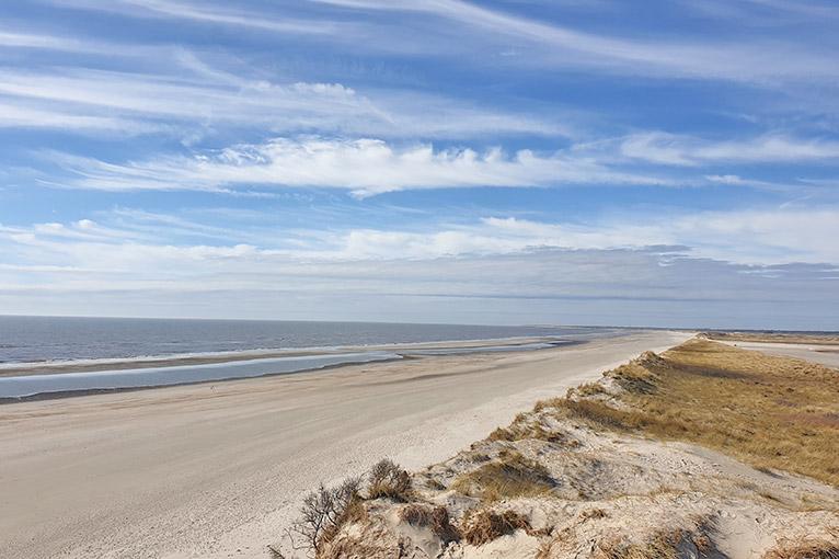 Skallingen Strand - Blickrichtung Blåvand
