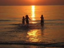 Smuk solnedgang over Vesterhavet