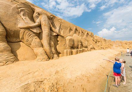 Sandskulpturfestival in Søndervig
