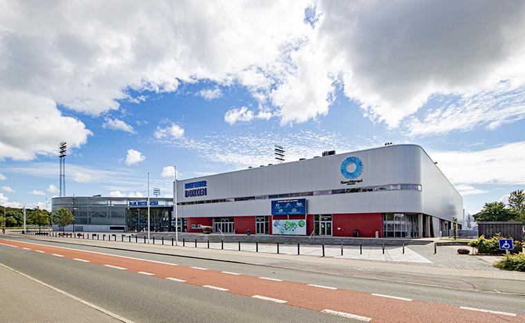 Stadion Blue Water Arena und Blue Water Dokken in Esbjerg