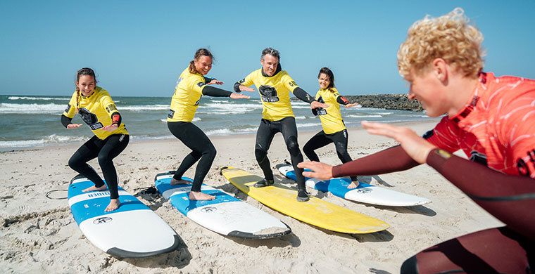 Surfkursus in Hvide Sande