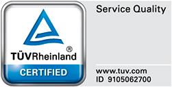 Esmark ist TÜV Zertifiziert