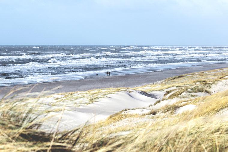 Urlaub im Herbst an der Nordsee in Dänemark - Strand bei Hvide Sande