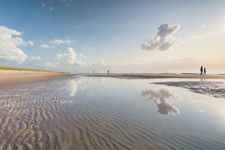 Naturpark Wattenmeer an der Nordsee in Dänemark